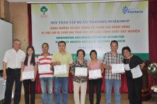 Certificates ceremony for participants who completed full course