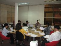 TOT trainers design schedule and topics for the next training courses